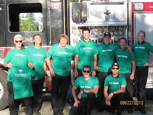 The City of North Vancouver Fire Fighter's Got Hope!