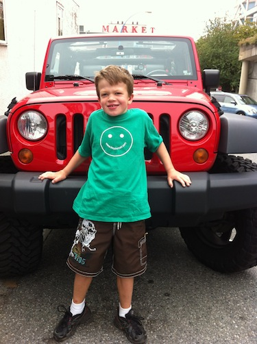 Trey's Red Jeep